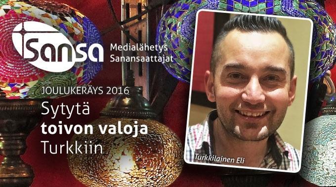 Joulukeräys Tuotti Turkin-mediatyölle 53 000 Euroa
